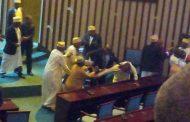 Bellou et Moustadroine Abdou, boxeurs de l'Assemblée