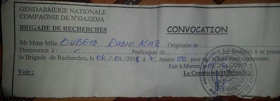 Mkazi n'a pas oublié le chèque en bois de Saïd Larifou