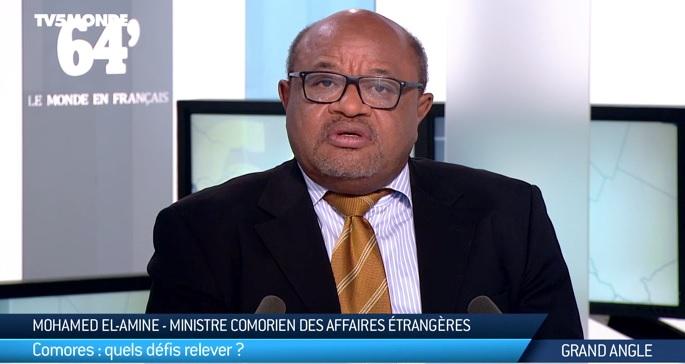 Elamine Souef est démissionné par Idaroussi Hamadi